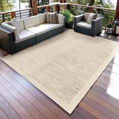 Buying an area rug is a fantastic way to add color, warmth and comfort to any room or office space, as well as gain some of the benefits of carpet. Outdoor/Indoor Striped Woven Rug - Shades of Beige. | eBay!