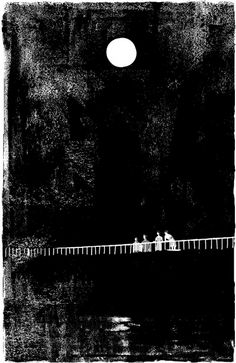 Tatsuro Kiuchi's monochrome illustration Art Blanc, Black And White Illustration, Moon Art, Gravure, White Art, Japanese Art, Illustrators, Monochrome, Graphic Art