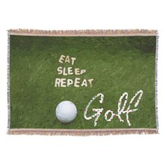 Golf Gifts Eat Sleep Golf Throw blanket - Shop Eat Sleep Golf Throw blanket created by Thanineegolfmedia. Personalize it with photos Golf Ball Crafts, Golf Cart Accessories, Golf Gifts For Men, Perfect Golf, Golf Humor, Golf Fashion, Fashion Men, Eat Sleep, Golf Tips