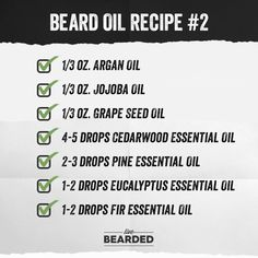 Looking for a good beard oil? We'll show you how to craft the perfect beard oil recipe from home, and show you step by step what you need to do! Diy Beard Oil, Beard Oil And Balm, Best Beard Oil, Pine Essential Oil, Cedarwood Essential Oil, Eucalyptus Essential Oil, Essential Oils, Beard Line, Beard Butter