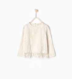 Fringed embroidered blouse-SHIRTS AND BLOUSES-GIRL   4-14 years-KIDS   ZARA United States
