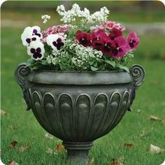This cool-season container allows you to be creative with color! The white Alyssum and Nemesia flowers create the perfect backdrop for any Pansy color that will last until the first hard frost.