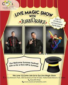 Live Magic Show with ! Welcome Summer, Magic Show, Drake, Kicks, Corner, Parenting, Play, Cool Stuff, Live