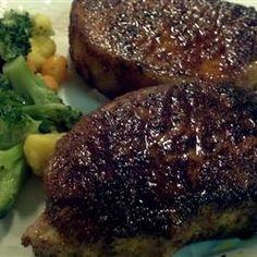 hampton bay lighting Cajun Spiced Pork Chops food-and-drink Great Recipes, Favorite Recipes, Recipe Ideas, Tasty, Yummy Food, Yummy Treats, Pork Dishes, Pork Recipes, Recipies