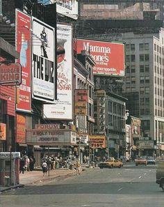 New York City street scene, 1978.