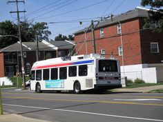 SEPTA trackless trolley on Rt.66 at Frankford&Gregg St.