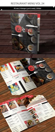 Restaurant Menu Template Vector EPS, AI #design Download: http://graphicriver.net/item/restaurant-menu-vol-24/14466484?ref=ksioks
