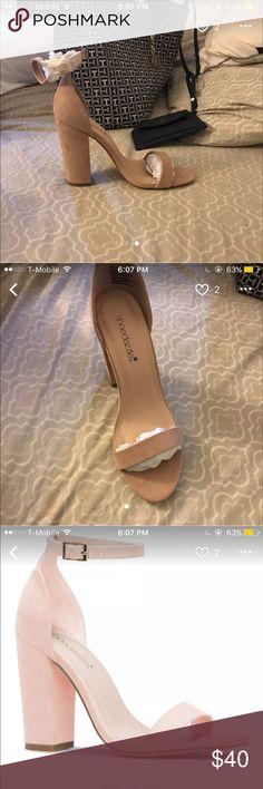 Mauve open toe block heel NEVER WORN Shoe Dazzle Shoes Heels