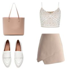 """""""Nude"""" by xoaninha12 on Polyvore featuring New Look, Chicwish and Mansur Gavriel"""
