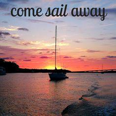 Come sail away to paradise. Hilton Head Island, SC. #sailing #travel