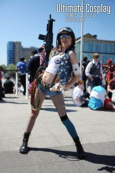 Tank Girl Cosplay by UltimateCosplays on DeviantArt Girl Costumes, Cosplay Costumes, Cosplay Ideas, Costume Ideas, Tank Girl Cosplay, Black Halloween Makeup, Halloween Cosplay, Halloween 2019, Girls Rules