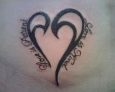 heart love is patient tattoo - Google Search