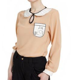 Salmon pink, chiffon blouse / Somon rengi şifon bluz www.gigidukkan.com