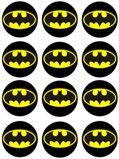 picture regarding Batman Cupcake Toppers Printable referred to as 10 Least complicated batman printables pictures inside of 2016 Batman celebration