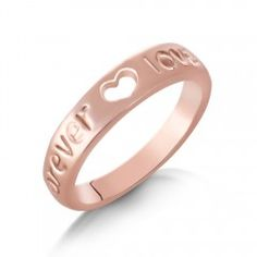 Plain simple classic FOREVER LOVE heart Ring Available in sizes N or P £9.99