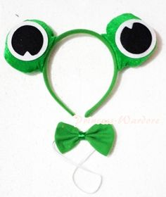 New Style Halloween Costume Cute Joyful Green Frog 2 Piece Set Headband Tie Halloween Items, Couple Halloween Costumes, Diy Costumes, Green Costumes, Firefly Costume, Frog Costume, Wonderland Costumes, Fancy Dress For Kids, Operation Christmas