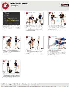 Weekend Workout:  Mad Strength  Click on link to download the full printable workout.