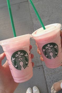 Cotton Candy Frap = vanilla bean frap+ raspberry syrup,