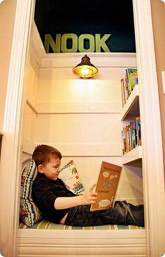 Small closet decor nooks ideas for 2019 Reading Nook Closet, Closet Nook, Reading Nook Kids, Kid Closet, Closet Ideas, Kids Closet Storage, Book Storage, Diy Storage, Small Room Bedroom