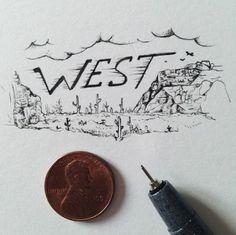 Kleinste Kleinkunst von Sam Larson