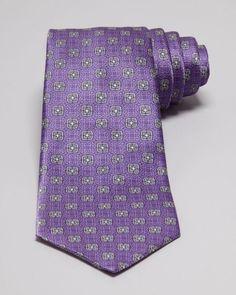 Valentino Square Floral Medallion Print Tie