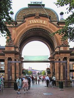 Tivoli Gardens, Copenhagen, Denmark - saw Sir Cliff Richard perform here in front of hundreds of crazed Danish fans! Just happened upon the concert while wandering through the gardens, was certainly an experience!