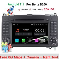 HD Android 7.1 System Car DVD Stereo Player For Mercedes/Benz/Sprinter/W209/W169Viano/Vito/B200/A160 With GPS Navigation Radio #Affiliate