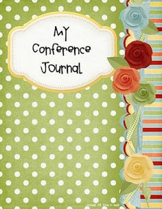 LDS General Conference Journal. Create a binder where you keep your conference notes. Just print the cute binder covers, and then however many pages you want for keeping notes. Really darling idea, and a great way to organize the thoughts and feelings you get during conference!