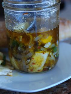 Czech Republic marinated cheese a wonderful appetizer goes great with a good pilsner!  Get the recipe and learn about the culture at http://www.internationalcuisine.com