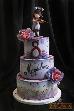 Gorjuss Cake by Nasa Mala Zavrzlama Pretty Cakes, Beautiful Cakes, Amazing Cakes, Art Party Cakes, Cake Art, Fondant Cakes, Cupcake Cakes, Apple Cake Pops, Cake Designs For Kids