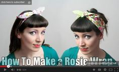 rosie hairwrap tutorial