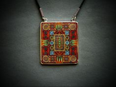 Cloisonne enamel pendant by Kokasart in Tbilisi, Georgia - new artist on etsy