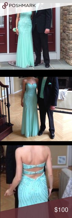 Aqua Blue Prom dress. Beautiful aqua blue prom dress! Open back, and price is negotiable Dresses Prom