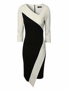 Asymmetric monochrome dress