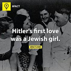 Maybe they broke up and that's why he hated them so much. Damn Hitler doesn't know how to handle getting dumped. 8 Facts, Wtf Fun Facts, True Facts, Funny Facts, Random Facts, Epic Facts, Random Trivia, Crazy Facts, Random Stuff