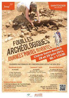 Portes ouvertes fouilles archéologiques. Du 28 au 29 juin 2014 à Saint-Dizier.