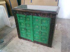 #carved #wooden #sideboard In #vintage pattern in #old wood
