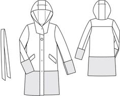 125_1013_b_wooly_coat_large Coat Pattern Sewing, Jacket Pattern, Vintage Sewing Patterns, Burda Patterns, Coat Patterns, Winter Coats Women, Coats For Women, Mens Wool Coats, Flat Sketches