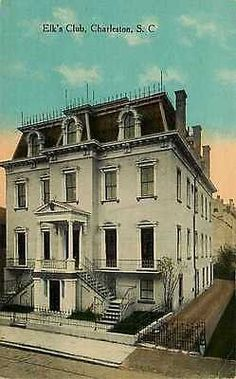 Charleston South Carolina SC 1908 Elks Club Collectible Antique Vintage Postcard