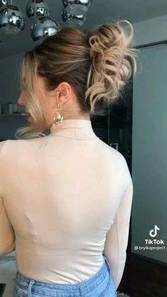Hair Curling Tips, Curl Hair With Straightener, Clip Hairstyles, Bun Hairstyles For Long Hair, Hair Up Styles, Hair Due, Gorgeous Hair, Hair Looks, Braids