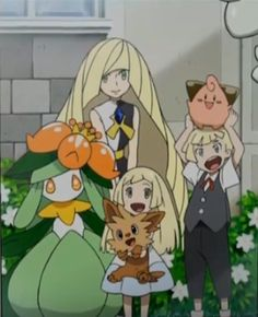 Lusamine and Lillie and Gladion