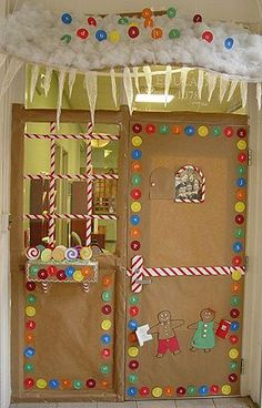 Image detail for -Holiday Door Contest winners Christmas Door Decorating Contest, School Door Decorations, Office Christmas Decorations, Christmas Themes, Christmas Fun, Window Decorating, Decorating Ideas, Christmas Classroom Door, Hansel Y Gretel