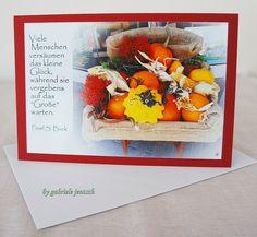 """Grußkarte """"Herbststuhl"""" von PHOTOGLÜCK auf DaWanda.com"""