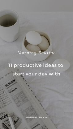 Morning routine ideas: 11 productive ways to start your day. Your morning routine can have a significant impact on how the rest of your day flows. Yet so many people start the day frazzled, racing against the clock in a frenzy to get ready. Healthy Morning Routine, Morning Habits, Morning Routines, Evening Routine, Night Routine, Miracle Morning, Positive Self Talk, Morning Affirmations, Productive Day