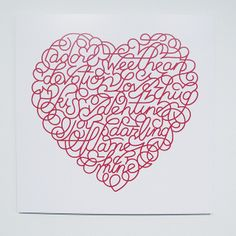 Marian Bantjes Saks Fifth Avenue Valentine Heart, 2008 Client: Saks Fifth Avenue by Michael Surtees, via Flickr