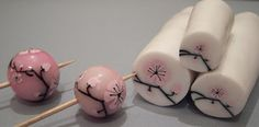 Cherry Blossom Polymer Clay Cane by Olga Ostapenko, who lives in Russia.
