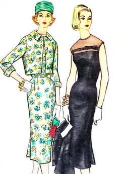 1950s Dress Pattern and Jacket Simplicity 1921 Day by paneenjerez, $20.00