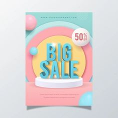 Free Vector | Realistic abstract vertical sale poster template Resources Icon, Sale Poster, Social Media Template, Print Templates, Vector Free, Banner, Graphic Design, Abstract, Photoshop