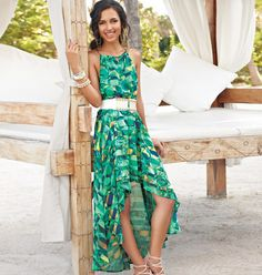 mark Island Elegance Maxi Dress - Meet this summer's must-have maxi! With its high-low cut, swirls of ocean blues, greens and sandy golds and an easy-breezy vibe, it transitions from casual walks on the beach (Saint Barts, anyone?) to dancing the night away. Polyester. Imported. Regularly $44.00, buy Avon mark products online at www.avonnovi.com