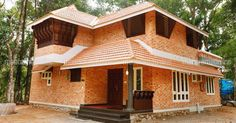 Rekha and her husband Gopakumar had no craze for the modern, contemporary or classic styles. Adoor home. simple home designs. Home Decor. Bamboo House Design, Simple House Design, Staircase Landing, Staircase Railings, Traditional Exterior, Traditional House, Window Canopy, Home Design Floor Plans, Concrete Structure